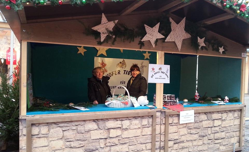 Die Tiertafel am Hofer Weihnachtsmarkt