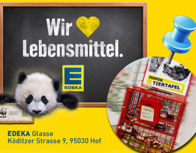 EDEKA Panda Futterbox Tiertafel Hof-Saale